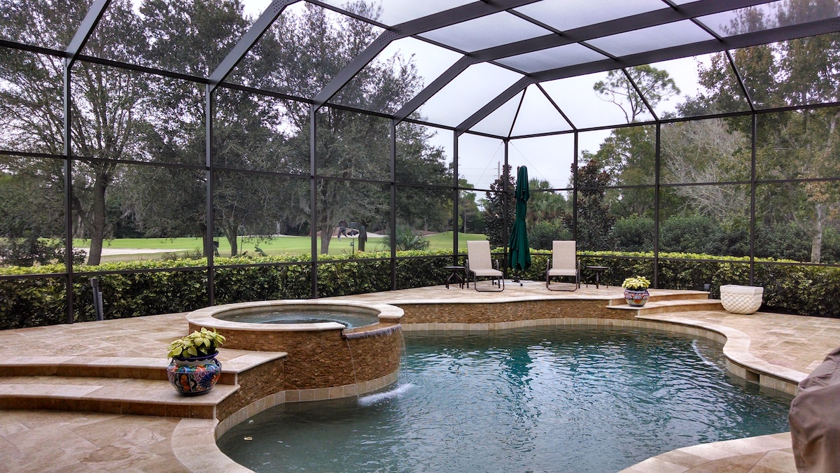 Fort-Lauderdale-Pool-Enclosure-Repainted